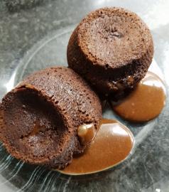 Coulant de xocolata negra
