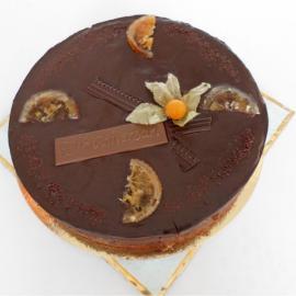 Pastís de xocolata i taronja