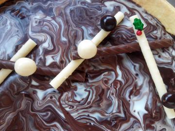Brisa de xocolata blanca i negra